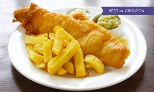 The Almighty Cod: Fish and Chips Meal For Two (£7.90) or Four (£15.90) at The Almighty Cod (Up to 34% Off)