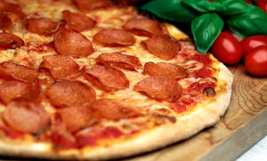 DeLorenzo's Pizza: $25 for $40 Worth of Award Winning Pizza, Salads, and Desserts at DeLorenzo's Pizza
