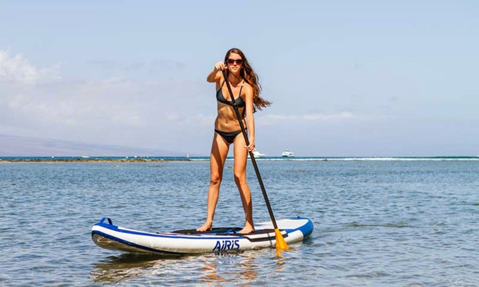 Lighthouse Inflatables  - The Narrows-First Landing: 90-Minute Scenic Stand-Up Paddle-Boarding Tour for One or Two from Lighthouse Inflatables (Up to 51% Off)