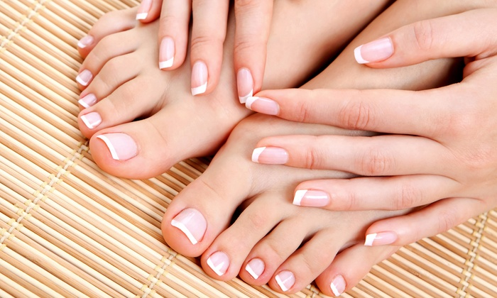 French Tips Nails & Spa Llc - Canyon Gate: One or Three Deluxe Mani-Pedis at French Tips Nails & Spa LLC (Up to 58% Off)