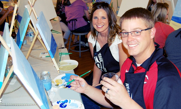 Raise Your Brush - Centerville: Wine and Painting Class for One or Two at Raise Your Brush (Up to 50% Off)
