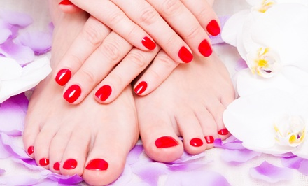 One or Two Shellac or Gel Manicures with Spa Pedicures at Face Enhancements (Up to 54% Off)