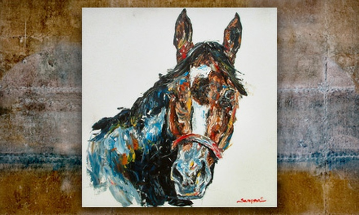 Debbie Sampson Sports and Equine Artist - Mizner Park: Oil or Graphite Pet Portrait from Debbie Sampson Sports and Equine Artist (Up to 59% Off). Five Options Available.