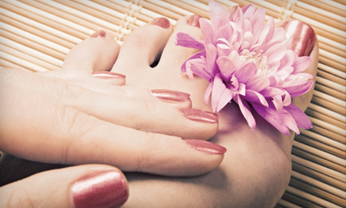 Angel Nails Deluxe - Northeast Virginia Beach: $27 for Regular Mani and Orange-Scented Pedi at Angel Nails Deluxe in Virginia Beach ($55 Value)