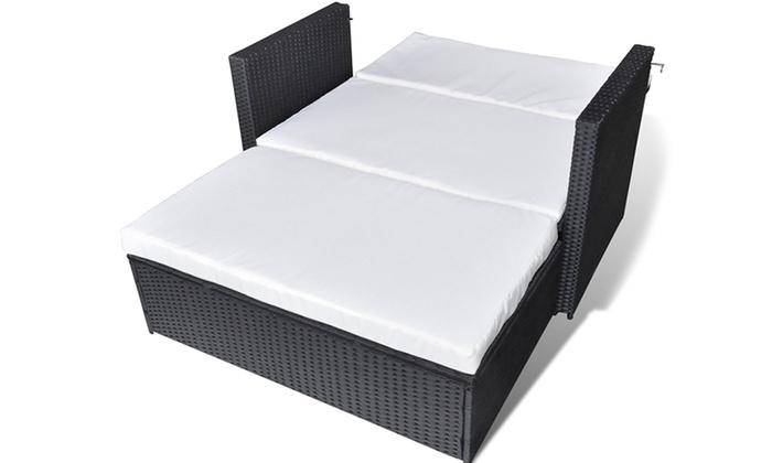 Rattan Sofa Bed Groupon Goods