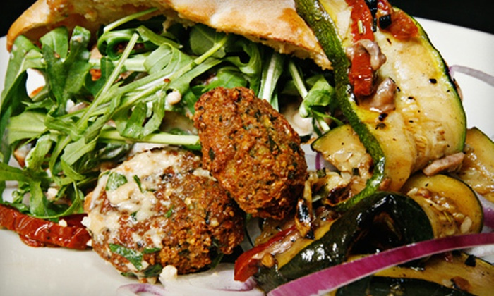 Urban Flame - Beresford Park: Falafel Plates with Hummus, Pita, and Belgian Beers for 2 or 4 at Urban Flame (Up to 52% Off)