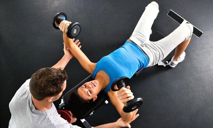 All 4 One Fitness - City Center: Four or Six Personal-Training Sessions with Menu Planning at All 4 One Fitness (Up to 86% Off)