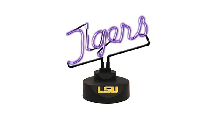 Neon logo desk lamp