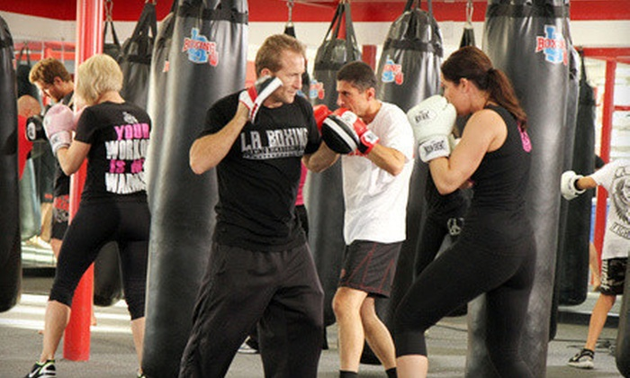 LA Boxing - Multiple Locations: Five Boxing, Kickboxing, or MMA Classes with Optional Gloves and Hand Wraps at LA Boxing (Up to 83% Off)