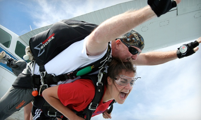 Skydive East Tennessee - East Tennessee: $99 for a Tandem Skydive over Smoky Mountains from Skydive East Tennessee ($224 Value)
