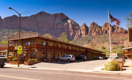 Stay at Pioneer Lodge in Springdale, UT. Dates into July.