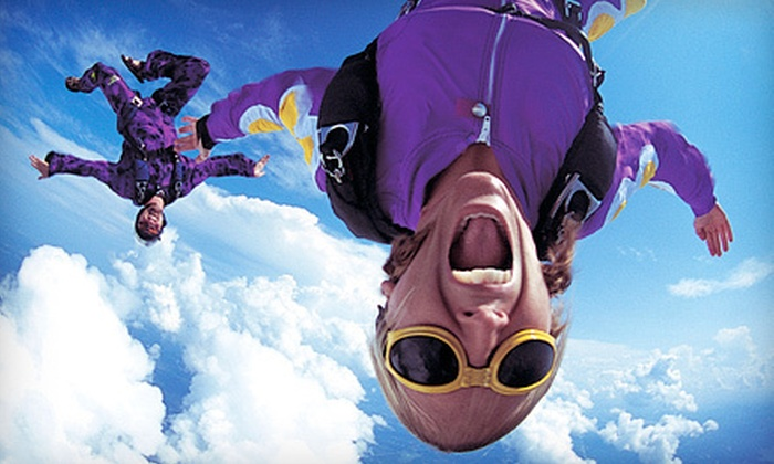 DC Skydiving Center - DC Skydiving Center: Tandem Skydiving and with Souvenir T-Shirt for One or Two from DC Skydiving Center in Warrenton (51% Off)