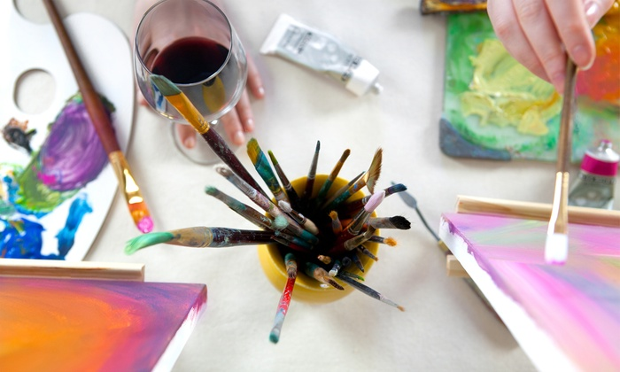 Art Works Downtown - San Rafael: Collage & Wine Workshop for One or Two from Art Works Downtown (50% Off)