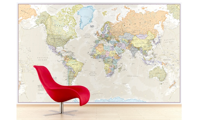 World map mural groupon goods world map mural gumiabroncs Choice Image