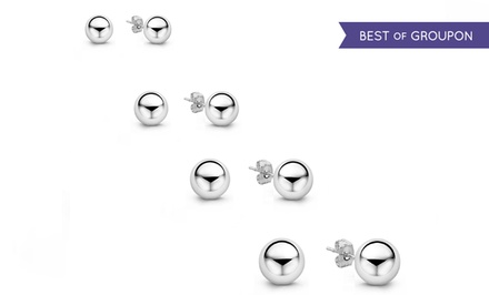 14K White Gold Ball Studs, Starting at $9.99