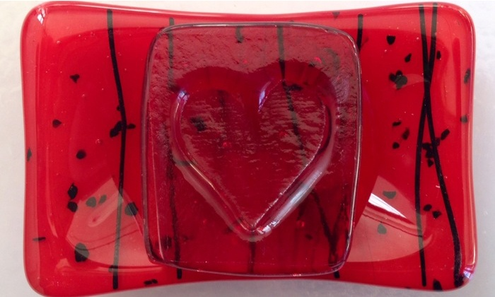 Valentine's Glassmaking Class - Lakeview: Fire Valentine's Day Gifts in a Kiln with a Glass Artist