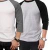 Men's Three-Quarter-Sleeve Baseball Shirts (3-Pack)