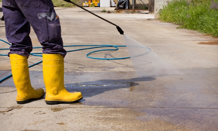 Grime Blaster - Raleigh / Durham: $49 for Power-Washing for a Driveway of up to 2,000 Square Feet from Grime Blaster ($200 Value)