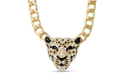 Tiger Statement Necklace with Swarovski Elements