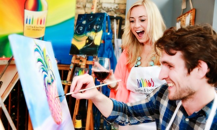 Two-and-a-Half Hour Painting Party for One, Two, or Four from Bottle & Bottega San Jose (Up to 51% Off)