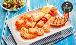Marzão Frutos do Mar: Rodízio de peixes e frutos do mar para 1 pessoa à vontade (sexta-feira) no Marzão Frutos do Mar – Santo André