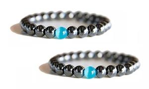1, 2 ou 3 bracelets élastiques en hématite