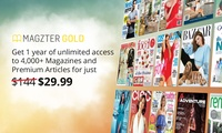 12 Months of Unlimited Online Magazines for $29.99 from Magzter (Dont pay $144)