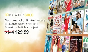 Magzter: 12 Months of Unlimited Online Magazines for $29.99 from Magzter (Don't pay $144)