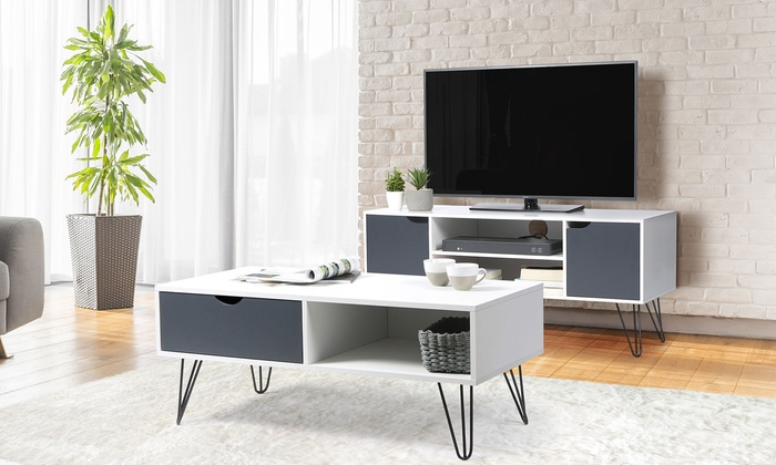 jusqu'à scandinaveGroupon basse TV meuble 49Table Sqc5RL4A3j