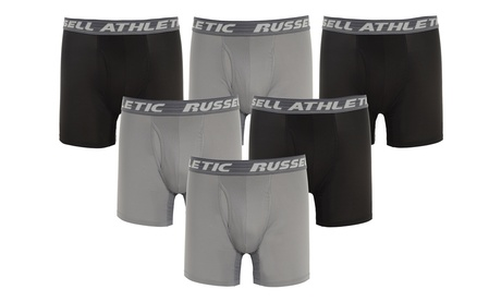 Russell Athletic Men's Performance Boxer Briefs (6-Pack)