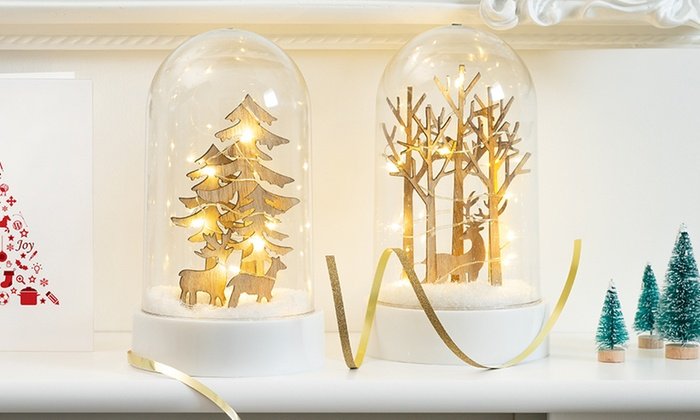Glass Dome LED Christmas Light | Groupon