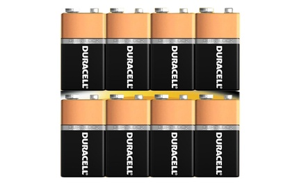 8-Pack of Duracell Coppertop 9-Volt Alkaline Batteries with DuraLock Power Preserve Technology