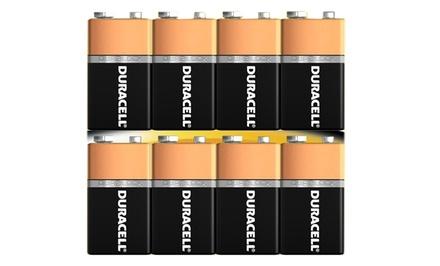 8-Pack of Duracell Coppertop 9-Volt Alkaline Batteries with DuraLock Power Preserve Technology