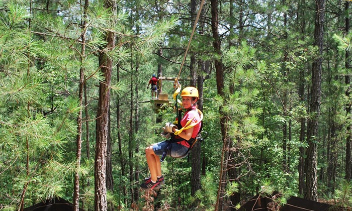 Daredevil Ziplines - Cave Spring: $34 for a Aerial Zipline and Obstacle Experience for One at Daredevil Ziplines ($65 Value)