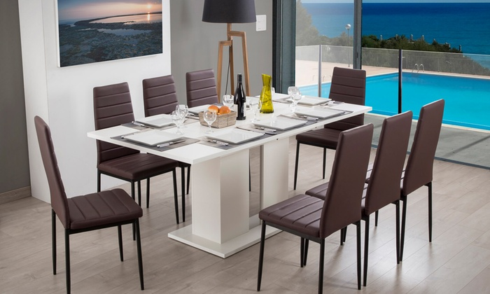 table de repas extensible kula groupon shopping