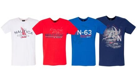 T-shirt Scuola Nautica Italiana 100% cotone disponibile in vari modelli e taglie