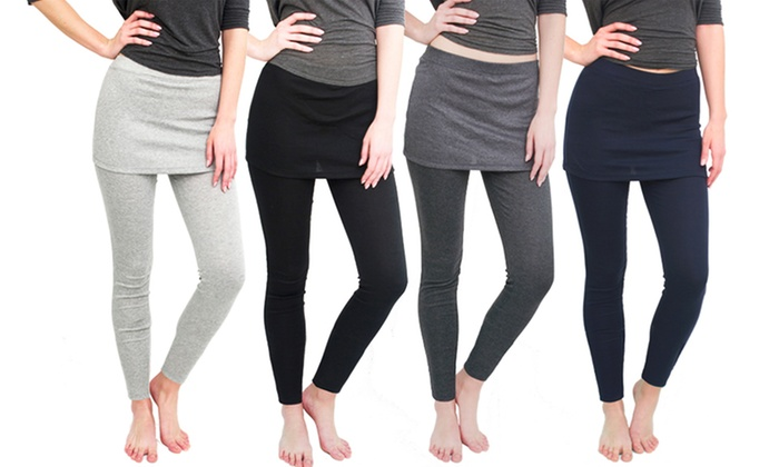Women's Skirted Leggings (4-Pack)