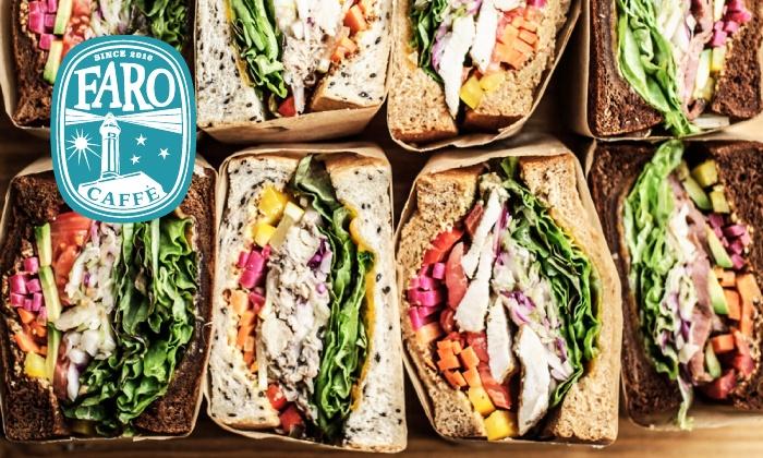 FARO - 渋谷区: 【最大40%OFF】美味しい具材を、贅沢にサンド≪選べるサンドウィッチ+1ドリンク/火~木限定 or 金・土・日・祝・祝前日限定≫テイクアウトもイートインも可 @FARO