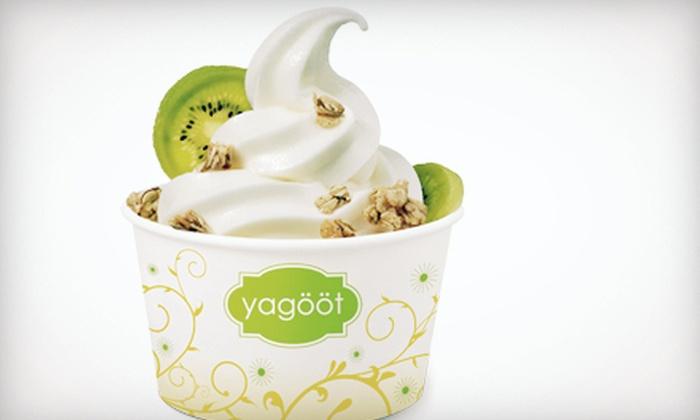 Yagööt - Multiple Locations: $5 for $10 Worth of Frozen Yogurt at Yagööt