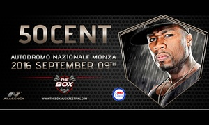 50 Cent a Monza, concerto live: 50 Cent, il 9 settembre all'Autodromo Nazionale di Monza e CD compilation Dj The Box Music Festival