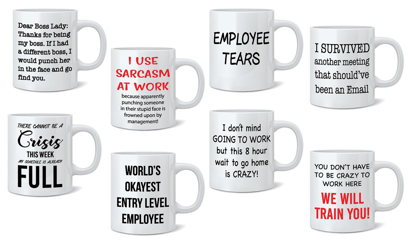 One or Two Novelty Employee Ceramic Mugs