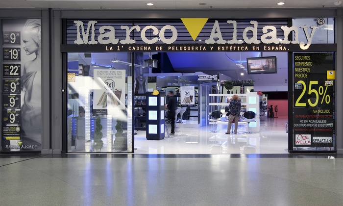 Marco Aldany - Varias localizaciones: Marco Aldany: 2 sesiones de peluquería completa para hombre con opción a tto. anticaída desde 13,95 € en toda España