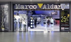 Marco Aldany: Marco Aldany: 2 sesiones de peluquería completa para hombre con opción a tto. anticaída desde 13,95 € en toda España