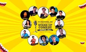 A.L. Franca Produções Artísticas: VI Festival de Stand-up Comedy – Mendes Convention Center, Santos: ingresso para 1 pessoa no setor A