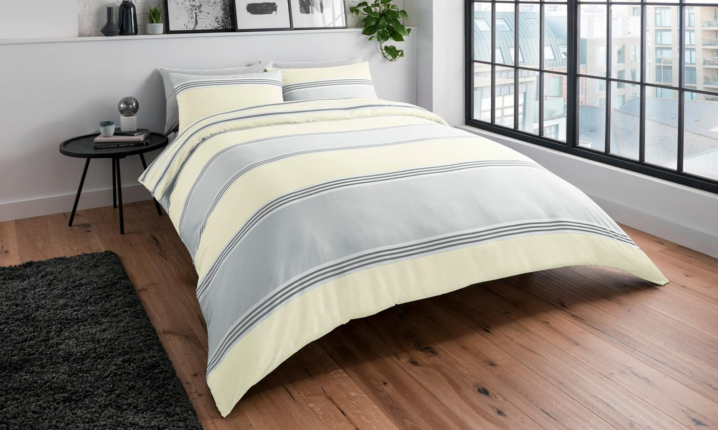 Pieridae Stripe Reversible Duvet Set for £1.99