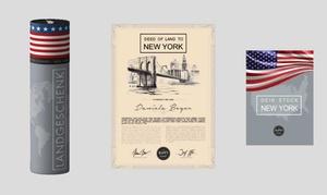 HappyLandGifts: Ein Landstück in New York, England o. Bayern als originelles Geschenk mit personalisierter Besitzurkunde (67% sparen*)