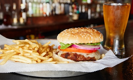Pizzas, Burgers, and New American Dinner for Two or Take-Out at Red Brick Tap & Grill (Up to 35% Off)