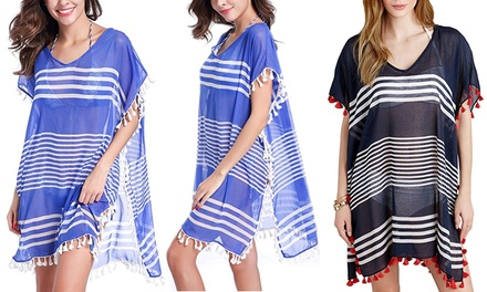 Tassel Cover Up Beach Dress: One $19 or Two $29 Don't Pay up to $119.90