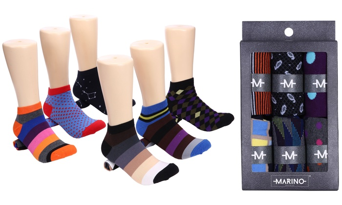 de2da7160bd1 Mio Marino Men's Low Cut Colorful Dress Socks (6- or 12-Pairs) | Groupon