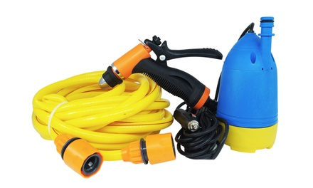 Idropulitrice portatile a immersione 12V con kit pistola e tubo lavaggio auto